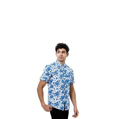 7 Diamonds All Of Me Short Sleeve Shirt - Blue Floral