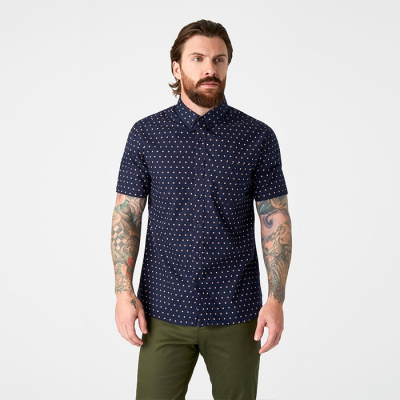 7Diamonds Moon Hop Short Sleeve Shirt - Navy