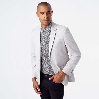 7Diamonds Vasto Blazer - Light Grey