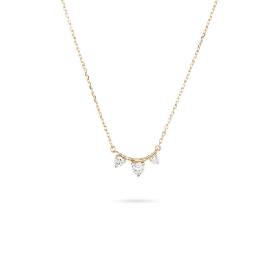 Adina Reyter 3-Diamond Amigos Curve Necklace