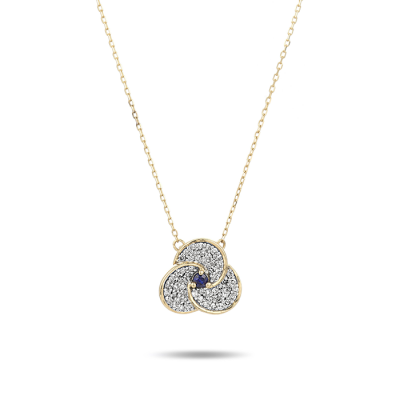 Adina Reyter Diamond and Sapphire Petals Necklace