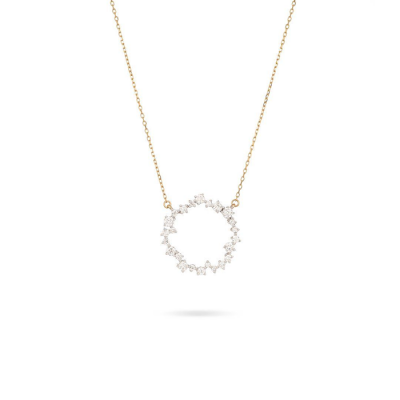 Adina Reyter Medium Scattered Diamond Circle Necklace