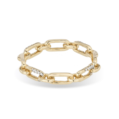 Adina Reyter Pave Interlocking Link Ring