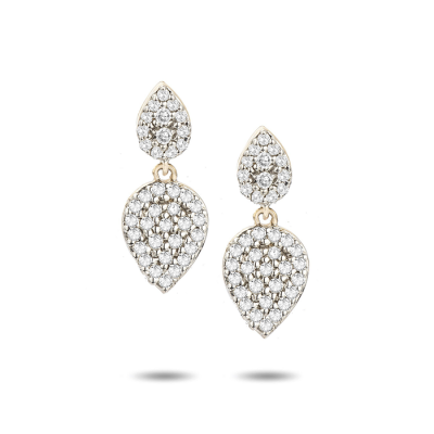 Adina Reyter Tiny Pave Double Teardrop Post Earrings