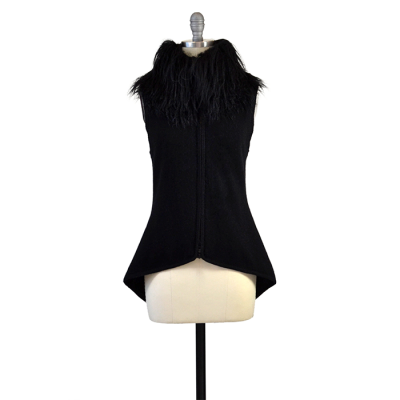 Aspen True Cashmere Vest with Tibetan Sheep Collar