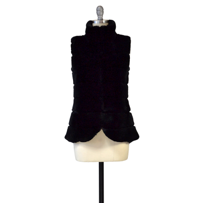 Aspen True Cashmere & Rex Rabbit Vest