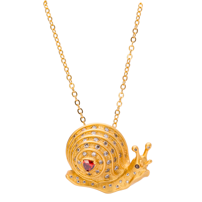 JCB Collection Brooch or Necklace - Escargot