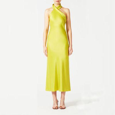 """Galvan London """"Pandora"""" Asymmetrical Bias Cut Midi Dress"""
