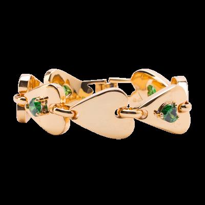 JCB Bracelet - Heart Link (Emerald)