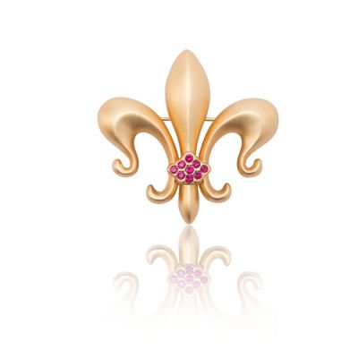 JCB Jewelry Brooch or Necklace - Fleur de Lys
