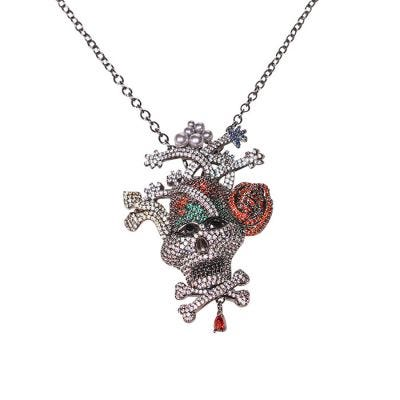 JCB Brooch and Necklace - Existence Skull
