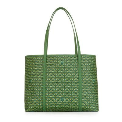 Pinel & Pinel Colette Medium Shopper - Emeraude and Dark Green