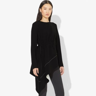 Proenza Schouler Asymmetrical Drape Long Sleeve Top