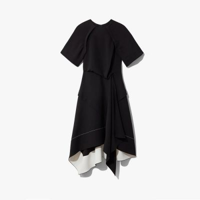 Proenza Schouler Asymmetrical Short Sleeve Dress