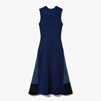 Proenza Schouler Pieced Rib Knit Dress - Indigo