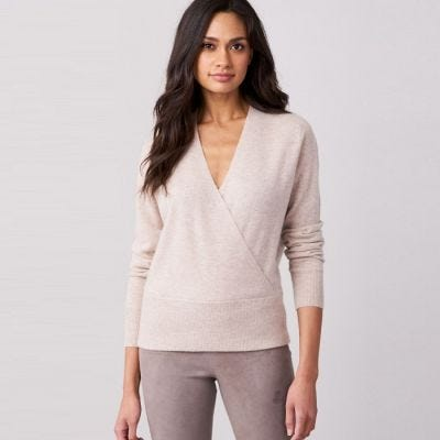 Repeat Cashmere Sweater With Wrapped Front