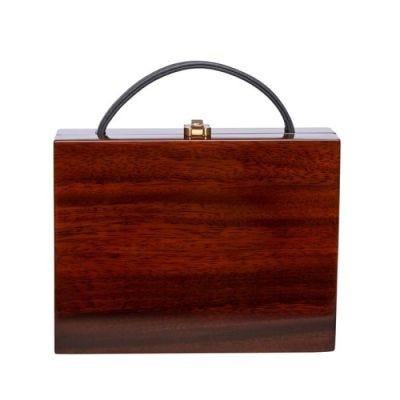 Rocio Hannah Handbag in Acacia Wood and Leather