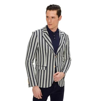 Ron Tomson Miami Bold Striped Blazer - Navy