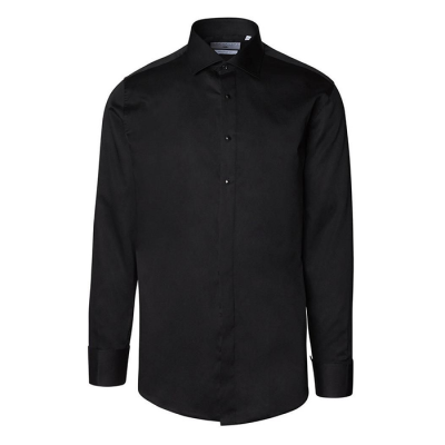 Ron Tomson Removable Buttoned Tuxedo Shirt - Black