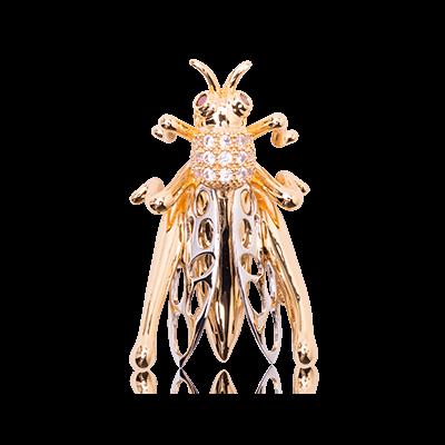 JCB Brooch or Necklace - Sauterelle / Grasshopper