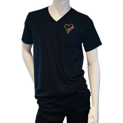JCB Collection The Golden Heart V-Neck T-Shirt