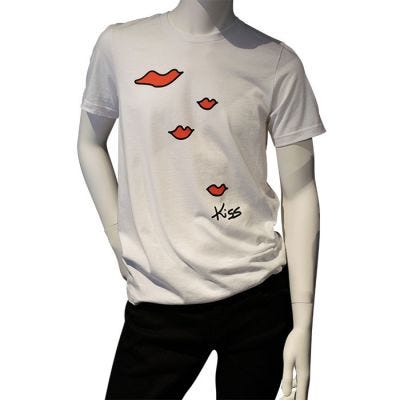 JCB Collection The Kiss Screen Print Crew Neck T-Shirt