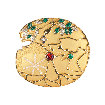JCB Brooch or Necklace - Green Giant