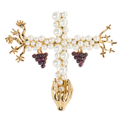 JCB Jewelry Brooch or Necklace - Saint Grape